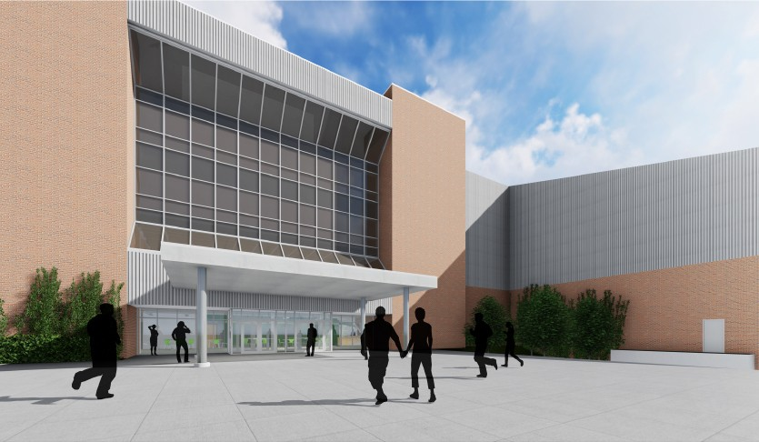 architects rendering of new Rec/IM facility