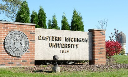 EMU sign at Oakwood entrance