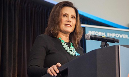 Gov. Gretchen Whitmer speaks at EMU