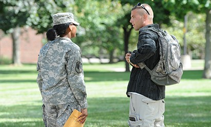 cadets on EMU campus