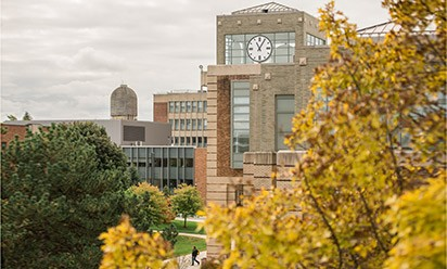 fall foliage around Halle Library