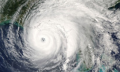 satellite photo of hurricane