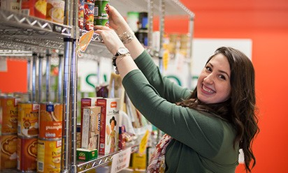 Haley Moraniec in Swoop's Food Pantry