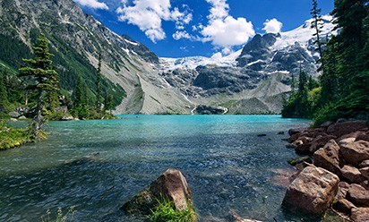 A lake and mountains in British Columbia, Canada