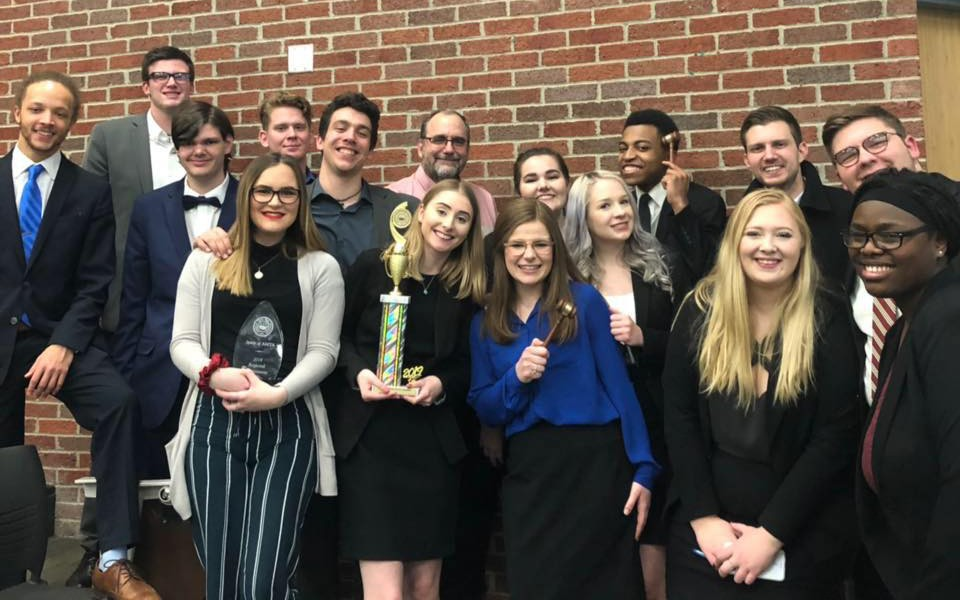 EMU Mock trial teams competed at a regional tournament last month.