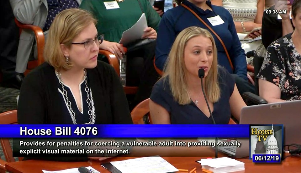 EMU assistant professors Annemarie Kelly and Christina Marsack-Topolewski testify on House TV.