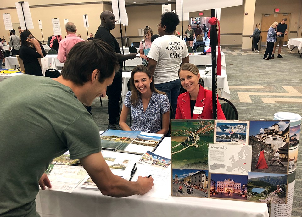 EMU's Study Abroad Fair at the Student Center Oct. 1, 2019.