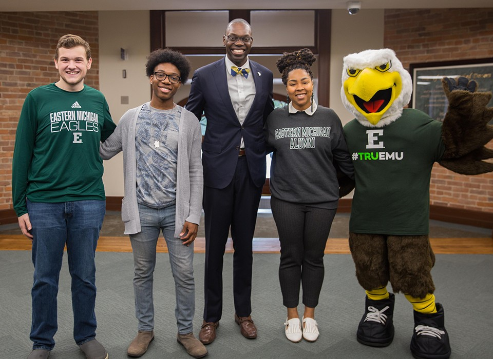 Lt Gov Garlin Gilchrist Visits Eastern Michigan University Campus In A Tour That Includes Strong And Roosevelt Halls Vivid Examples Of How State Aid Helped And Can Help Emu Fulfill Its Mission