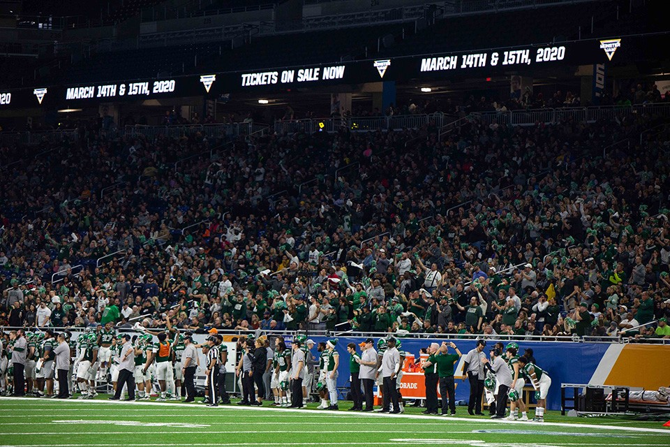 Eastern Michigan University fans enjoy great bowl game experience in Detroit, help set a new Quick Lane Bowl attendance record
