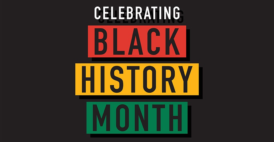 Colorful Celebrating Black History Month typography