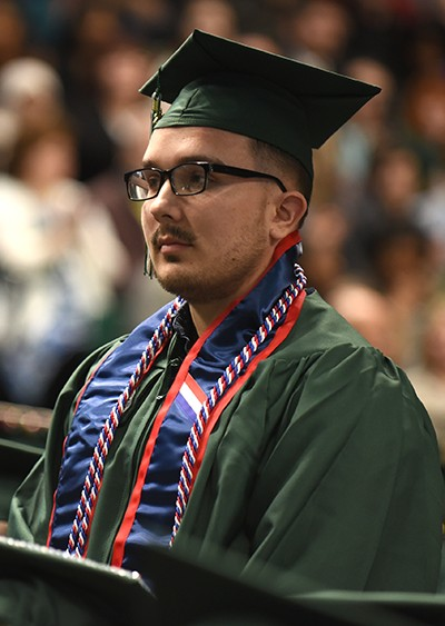 Ethan Smith at commencement