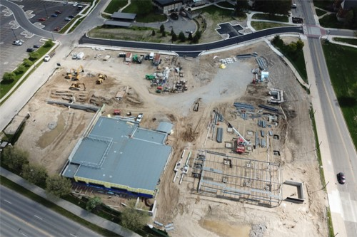 Health Center construction aerial photo